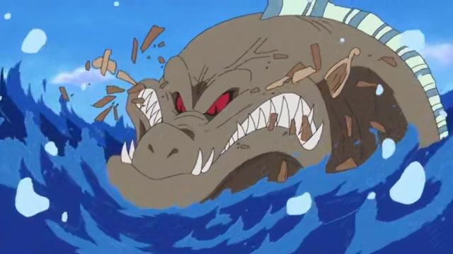海王に食べられるヒグマ